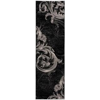 Nourison Soho Black Grey Rug (2'2 x 7'6)