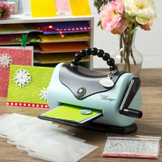 Sizzix Texture Boutique Die Cutting & Embossing Machine + 10 bonus Folders & Rub On's.
