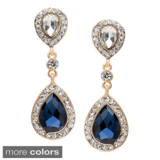 Alexa Starr Double Teardrop Crystal Earrings