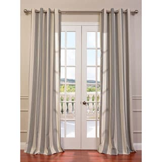EFF Bermuda Grey Veranda Linen Blend Stripe Curtain