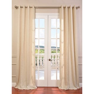 Lanai Veranda Natural Linen Blend Stripe Curtain