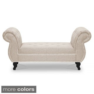 Baxton Studio Watson Upholstered Modern Tufted Bench
