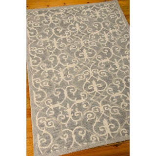 Nourison Marina Silver Patterned Area Rug (8' x 10'6)