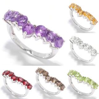 Sterling Silver Gemstone Stack Ring