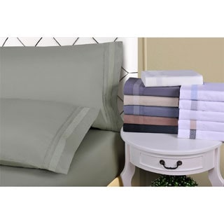 Wrinkle Resistant Embroidered Peaks Sheet Set With Gift Box