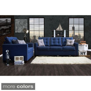 Furniture of America Lennons Urban 2-Piece Upholstered Sofa Set