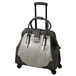 Hang Accessories Urban Chic Grey/ Gold Rolling 15-inch Laptop Case