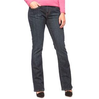 Levi's Women's Petite Dark Ice Mid-rise Bootcut Jeans