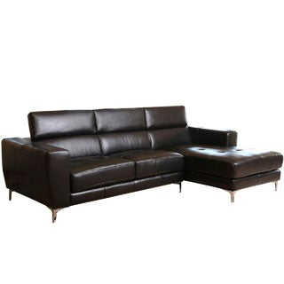 ABBYSON LIVING Monticello Top Grain Leather Functional Sectional