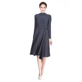 Von Ronen Women's 'Victoria' Long Sleeve Convertible Front-to-Back Short Dress Cocktail Gown
