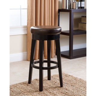 ABBYSON LIVING Camila Dark Brown Bonded Leather Counter Stool