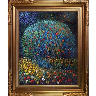 Gustav Klimt Apple Tree I Hand Painted Framed Canvas Art