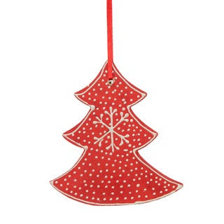 Sage & Co Sage & Co. Wood Toole Paint Christmas Tree Ornament (12 Pack)