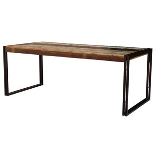 Timbergirl Reclaimed Wood Dining Table with Iron Legs (India)