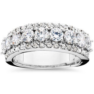 14k White Gold 1 1/2ct TDW Diamond Anniversary Ring (I-J, I2-I3)