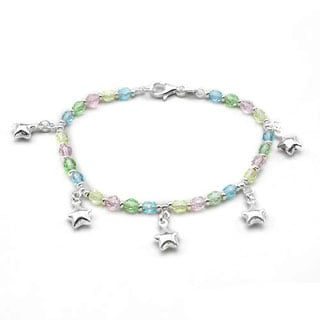 DV Italy Bracelet with Crystals in .925 Sterling Silver