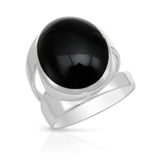 Sigal Ring with Onyx in .925 Sterling Silver