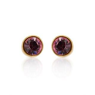 Pilgrim Skanderborg Stud Earrings with Crystals in Yellow Metal