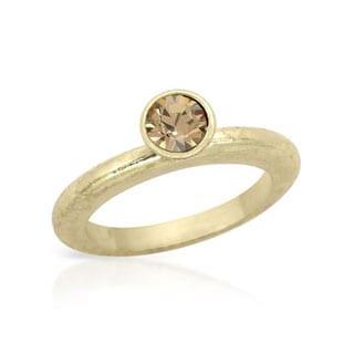 Pilgrim Skanderborg Ring with Crystals in Yellow Metal