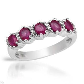 Sterling Silver 1.31ct Ruby/ Topaz Gemstone Ring