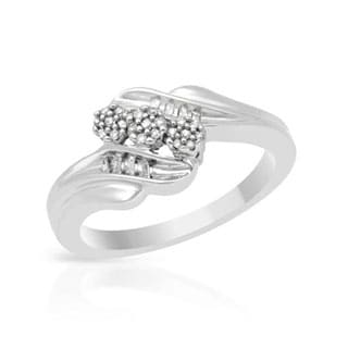 Multi-Stone Fashion Diamond Promise Ring in Sterling Silver sz6.5