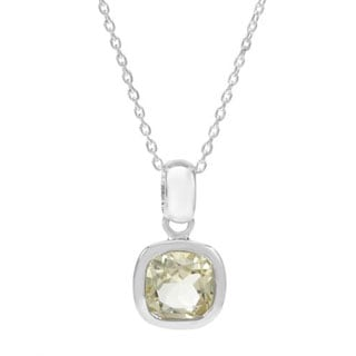 Necklace with 1.65ct TW Quartz of .925 Sterling Silver