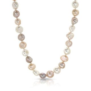 32-inch Necklace with 10mm Multicolor Freshwater Pearls