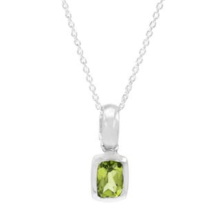 Necklace with 1.2ct TW Peridot in .925 Sterling Silver