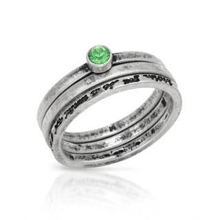 Set Pilgrim Skanderborg Ring with Crystals Metallic Metal