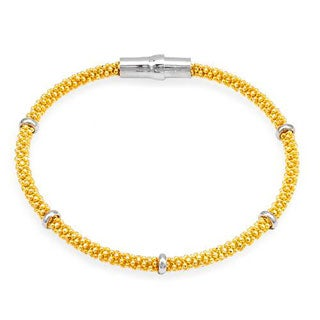10k Yellow Gold-plated Silver Bracelet