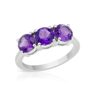 Ring with 2.24ct TW Amethysts 925 Sterling Silver