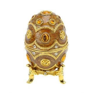 Yellow/ Two-tone Metal/ Enamel Music Box