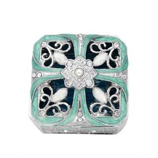 Metallic/ Three-tone Metal/ Enamel Jewelry Box
