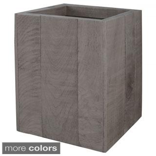 Lamont Home Wyatt Collection Wood Wastebasket