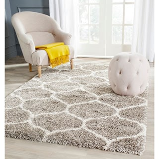 Safavieh Hudson Shag Grey/ Ivory Rug (4' x 6')
