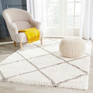 Safavieh Hudson Shag Ivory/ Grey Rug (3' x 5')