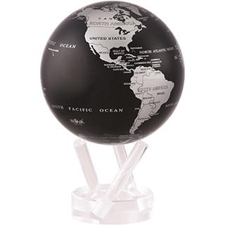 Silver Metallic Earth 8.5-inch Solar Powered MOVA World Globe