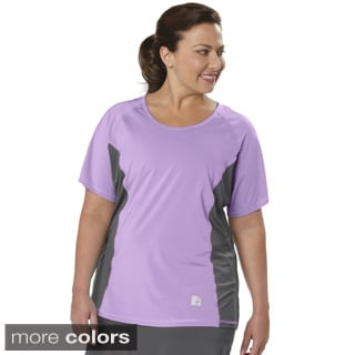 Live Life Large Women's Plus Size Colorblocked T-shirt