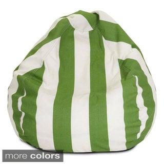 Majestic Home Goods Vertical Stripe Small Classic Bean Bag