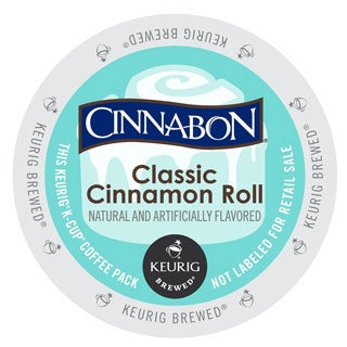 Cinnabon Classic Cinnamon Roll Coffee K Cup Portion Pack for Keurig Vue Brewing Systems