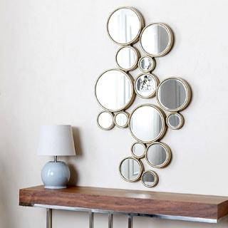 Abbyson Living Danby Circles Wall Mirror