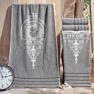 Enchante Vincente 100-percent Fine Turkish Cotton 4-piece Towel Set