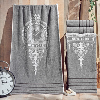 Enchante Vincente Turkish Cotton Bath Towel (Set of 2)