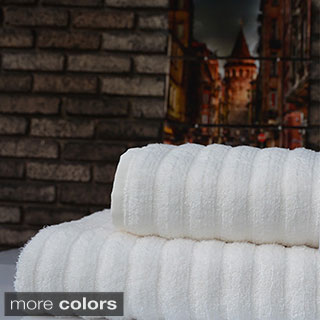 Enchante Lofty Turkish Micro Cotton Bath Towels (Set of 2)