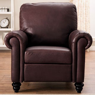 Natuzzi Rome Brown Italian Leather Recliner