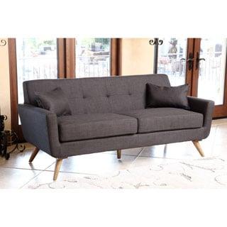 Abbyson Living Bradley Gray Tufted Fabric Sofa