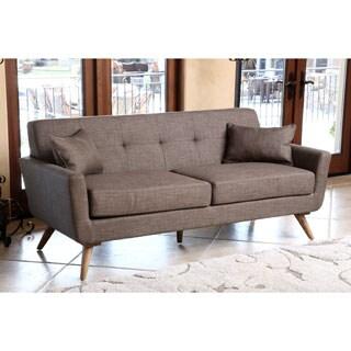 Abbyson Living Bradley Khaki Tufted Fabric Sofa