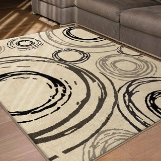 Da Vinci Collection Carlile Beige Olefin Area Rug