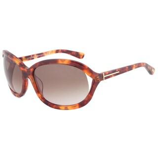 Tom Ford FT0278 47F Vivienne Rectangular Women's Tortoise Framed Sunglasses and Brown Gradient Lens