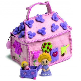 Children's Girly House Bag with Girl and Baby (Denmark)